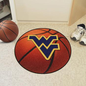 "27"" West Virginia University Basketball Style Round Mat"