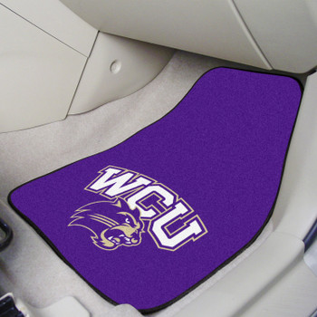 Western Carolina University Purple Carpet Car Mat, Set of 2