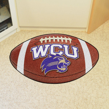 "20.5"" x 32.5"" Western Carolina University Football Shape Mat"