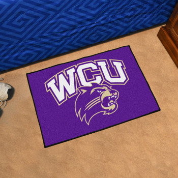 "19"" x 30"" Western Carolina University Purple Rectangle Starter Mat"