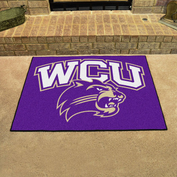 "33.75"" x 42.5"" Western Carolina University All Star Purple Rectangle Mat"
