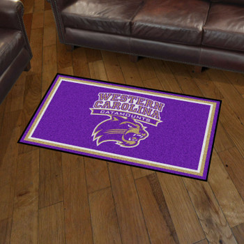 3' x 5' Western Carolina University Purple Rectangle Rug