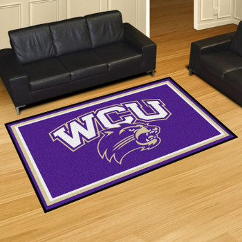 5' x 8' Western Carolina University Purple Rectangle Rug