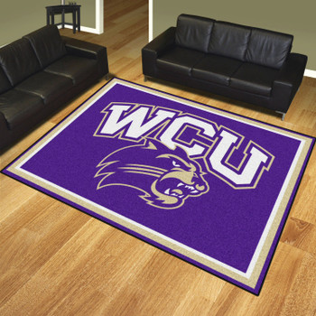 8' x 10' Western Carolina University Purple Rectangle Rug