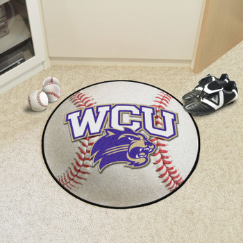 "27"" Western Carolina University Baseball Style Round Mat"