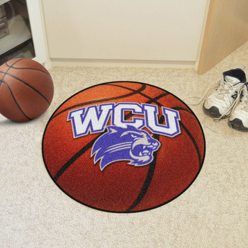 "27"" Western Carolina University Basketball Style Round Mat"