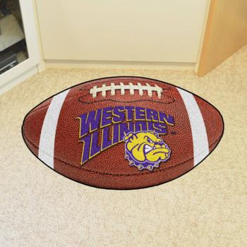 "20.5"" x 32.5"" Western Illinois University Football Shape Mat"