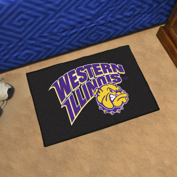 "19"" x 30"" Western Illinois University Black Rectangle Starter Mat"