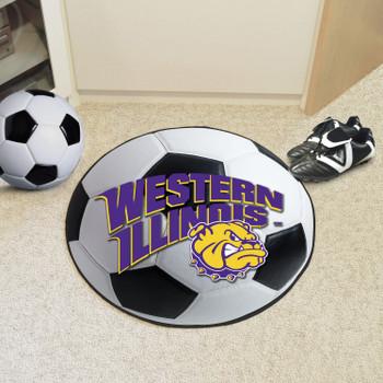 "27"" Western Illinois University Soccer Ball Round Mat"
