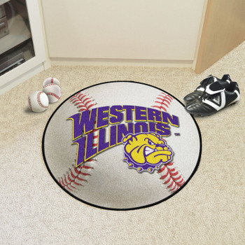 "27"" Western Illinois University Baseball Style Round Mat"