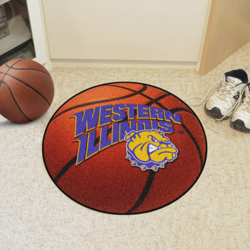 "27"" Western Illinois University Basketball Style Round Mat"