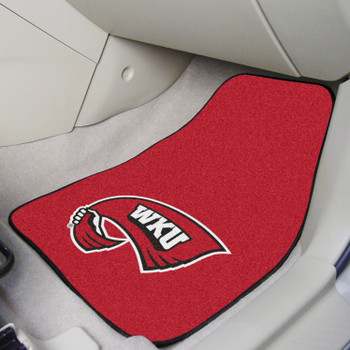 Western Kentucky University Red Carpet Car Mat, Set of 2