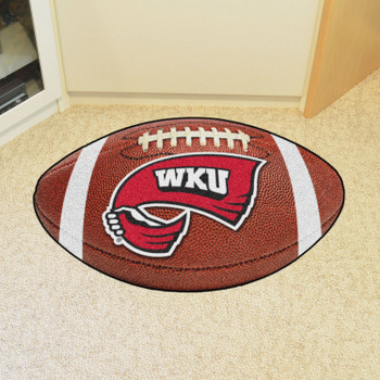 "20.5"" x 32.5"" Western Kentucky University Football Shape Mat"