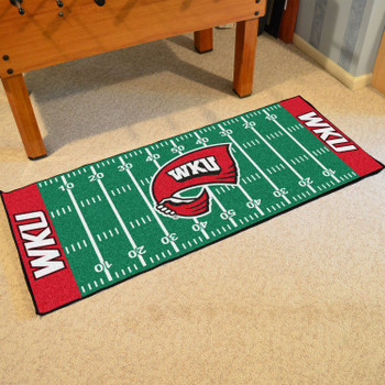 "30"" x 72"" Western Kentucky University Football Field Rectangle Runner Mat"
