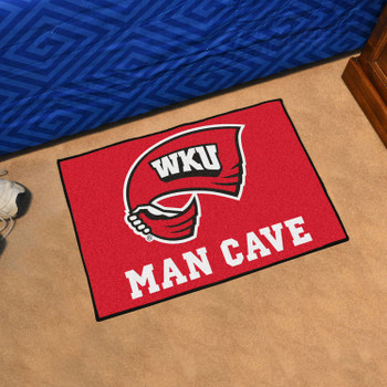 "19"" x 30"" Western Kentucky University Man Cave Starter Red Rectangle Mat"