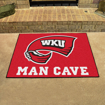 "33.75"" x 42.5"" Western Kentucky University Man Cave All-Star Red Rectangle Mat"