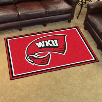 4' x 6' Western Kentucky University Red Rectangle Rug