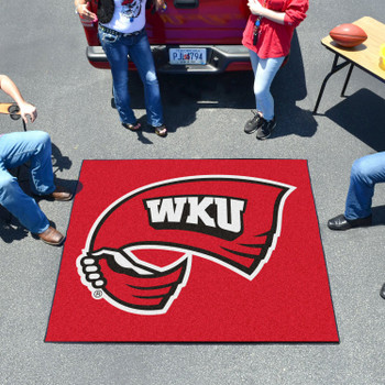 "59.5"" x 71"" Western Kentucky University Gray Tailgater Mat"