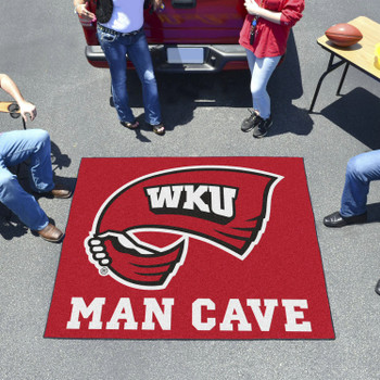 "59.5"" x 71"" Western Kentucky University Man Cave Tailgater Red Rectangle Mat"