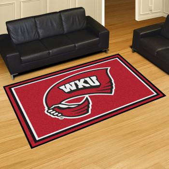 5' x 8' Western Kentucky University Red Rectangle Rug