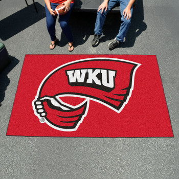 "59.5"" x 94.5"" Western Kentucky University Red Rectangle Ulti Mat"