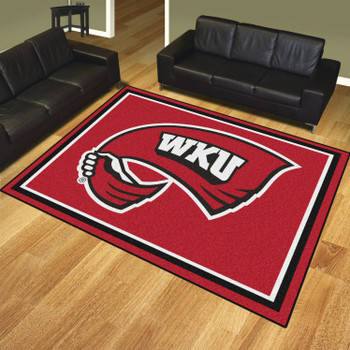 8' x 10' Western Kentucky University Red Rectangle Rug