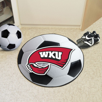 "27"" Western Kentucky University Soccer Ball Round Mat"