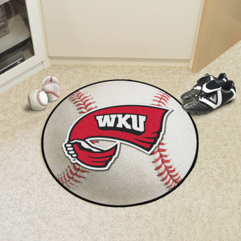 "27"" Western Kentucky University Baseball Style Round Mat"