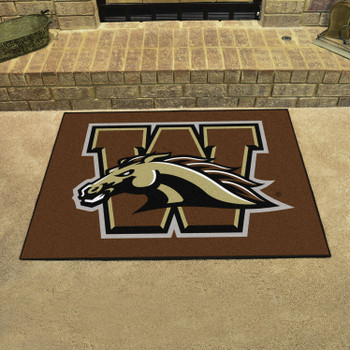"33.75"" x 42.5"" Western Michigan University All Star Brown Rectangle Mat"