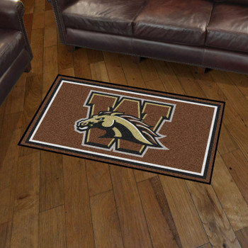 3' x 5' Western Michigan University Brown Rectangle Rug