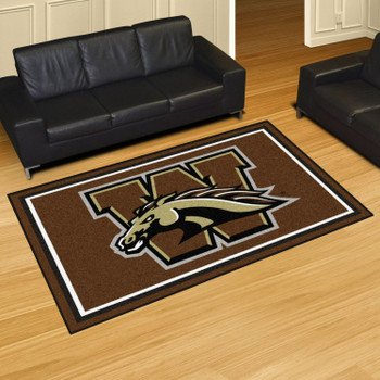 5' x 8' Western Michigan University Brown Rectangle Rug