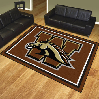 8' x 10' Western Michigan University Brown Rectangle Rug