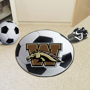 "27"" Western Michigan University Soccer Ball Round Mat"