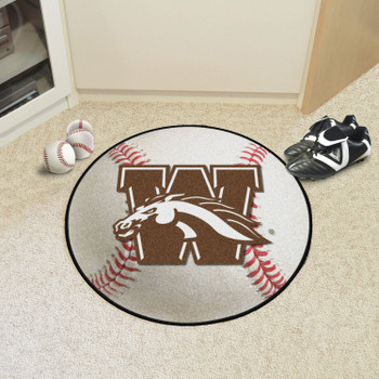 "27"" Western Michigan University Baseball Style Round Mat"