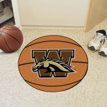 "27"" Western Michigan University Basketball Style Round Mat"