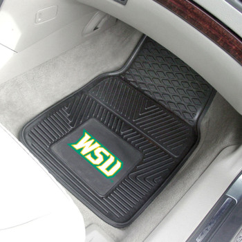 Wright State University Heavy Duty Vinyl Front Black Car Mat, Set of 2