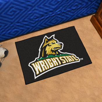 "19"" x 30"" Wright State University Black Rectangle Starter Mat"