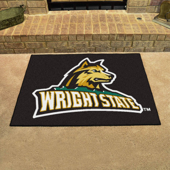 "33.75"" x 42.5"" Wright State University All Star Black Rectangle Mat"