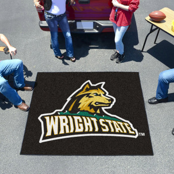 "59.5"" x 71"" Wright State University Black Tailgater Mat"