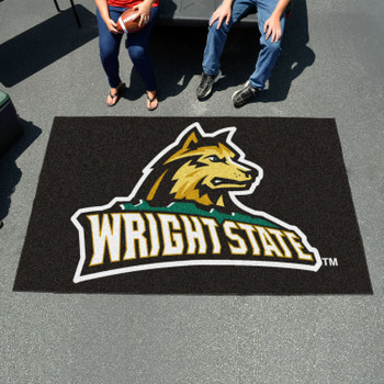 "59.5"" x 94.5"" Wright State University Black Rectangle Ulti Mat"