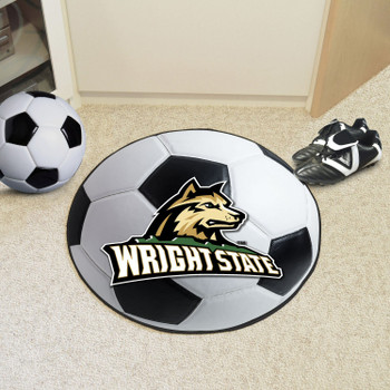 "27"" Wright State University Soccer Ball Round Mat"