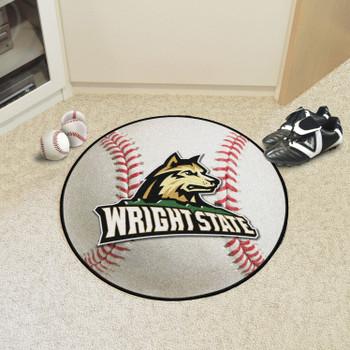 """27"""" Wright State University Baseball Style Round Mat"""