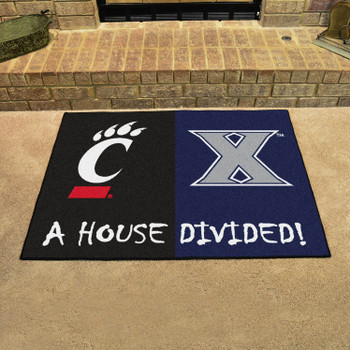 "33.75"" x 42.5"" Xavier / Cincinnati House Divided Rectangle Mat"