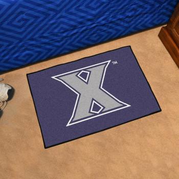 "19"" x 30"" Xavier University Navy Blue Rectangle Starter Mat"
