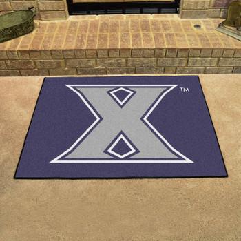 "33.75"" x 42.5"" Xavier University All Star Navy Blue Rectangle Mat"