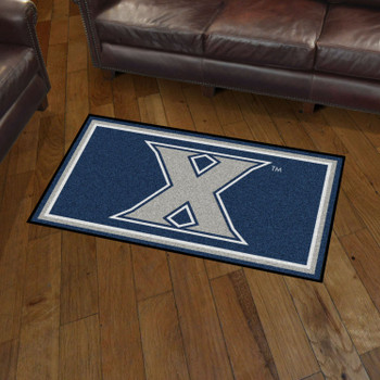 3' x 5' Xavier University Blue Rectangle Rug