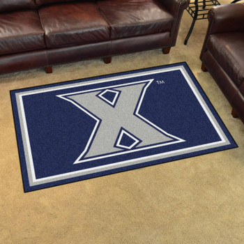 4' x 6' Xavier University Navy Blue Rectangle Rug