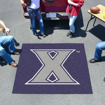 "59.5"" x 71"" Xavier University Navy Blue Tailgater Mat"
