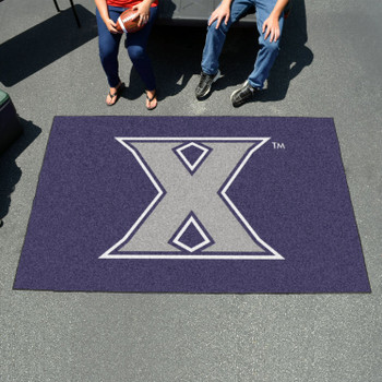"59.5"" x 94.5"" Xavier University Navy Blue Rectangle Ulti Mat"