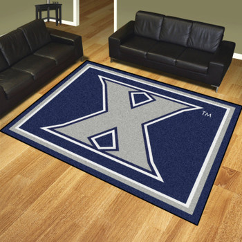 8' x 10' Xavier University Navy Blue Rectangle Rug